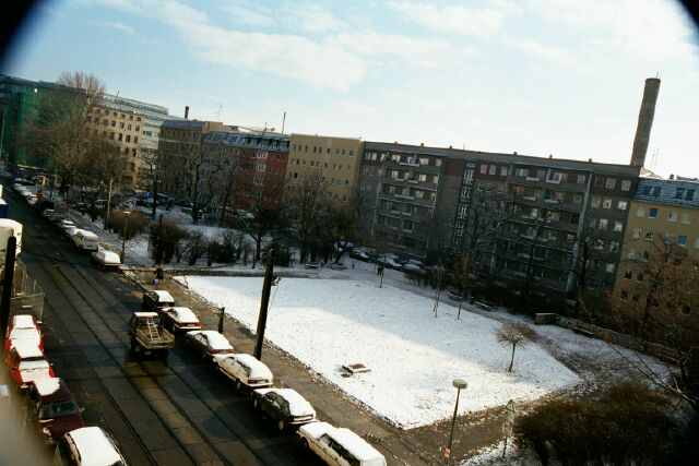 East Berlin apartment buildings from our window