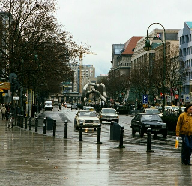 Rainy street view