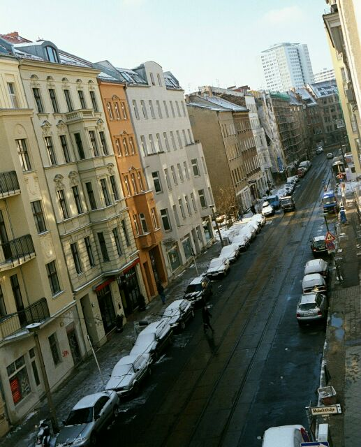 The view out of our apartment window in the Mitte