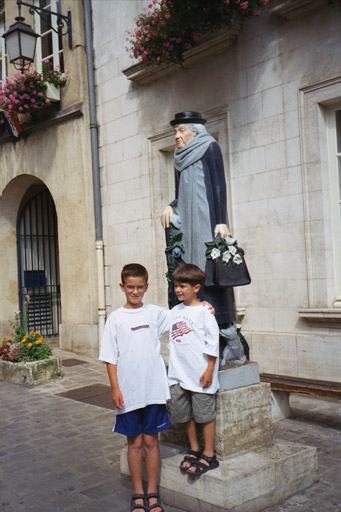 Patrick and Christopher with Maria Noel in Auxerre