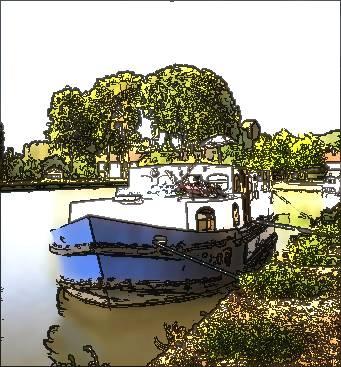 Rainbow Boat Actual size=240 pixels wide